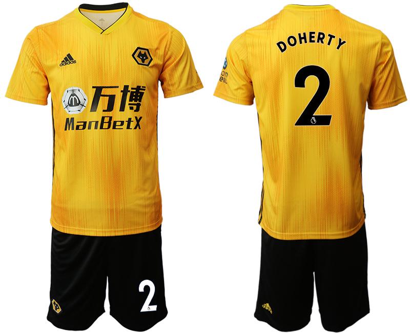 2019-20 Wolverhampton Wanderers 2 DOHERTY Home Soccer Jersey