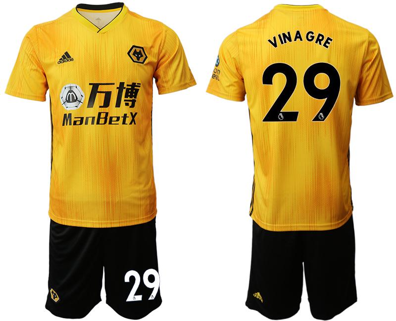 2019-20 Wolverhampton Wanderers 29 VIN A GRE Home Soccer Jersey