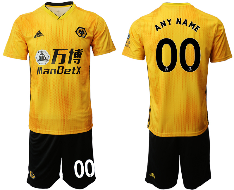 2019-20 Wolverhampton Wanderers Customized Home Soccer Jersey