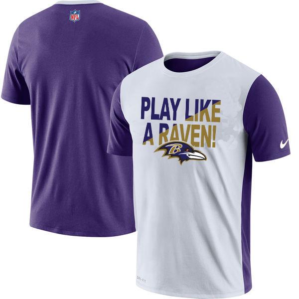 Baltimore Ravens Nike Performance T Shirt White