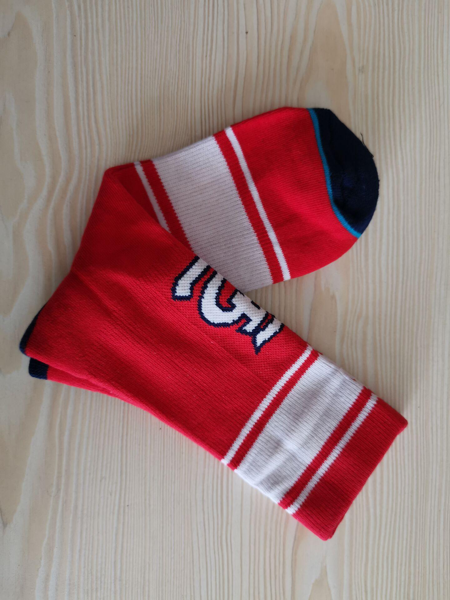 St. Louis Cardinals Team Logo Red MLB Socks