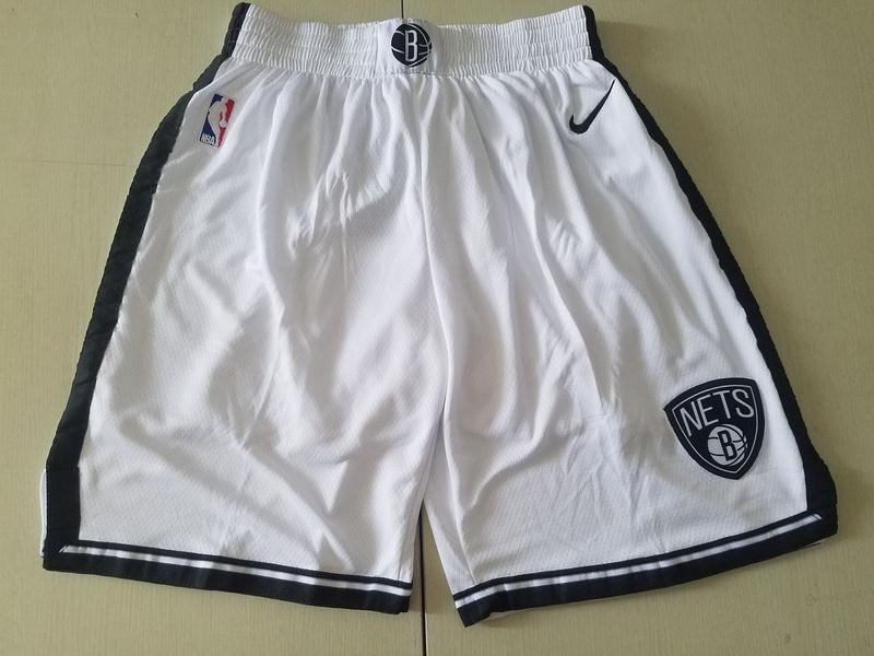 Nets White Nike Swingman Shorts