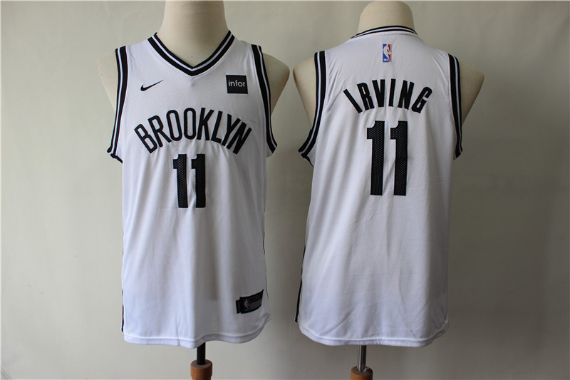 Nets 11 Kyrie Irving White Youth Nike Swingman Jersey