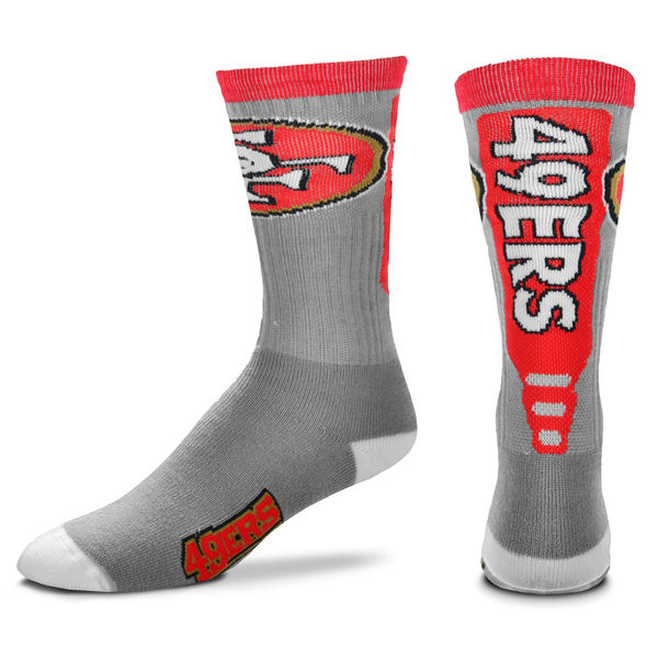 San Francisco 49ers Team Logo Gray NFL Socks