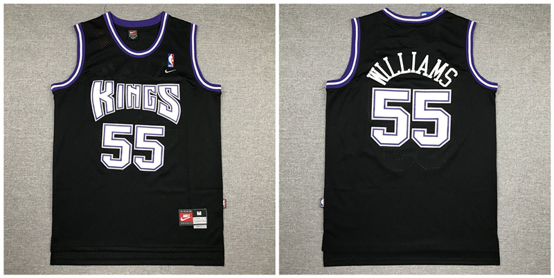 Kings 55 Jason Williams Black Nike Swingman Jersey