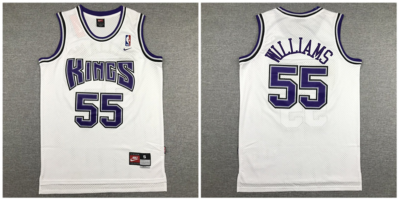Kings 55 Jason Williams White Nike Swingman Jersey