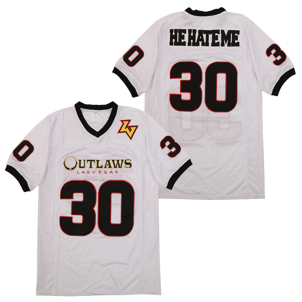 Rod Smart He Hate Me 30 White Movie Football Jersey