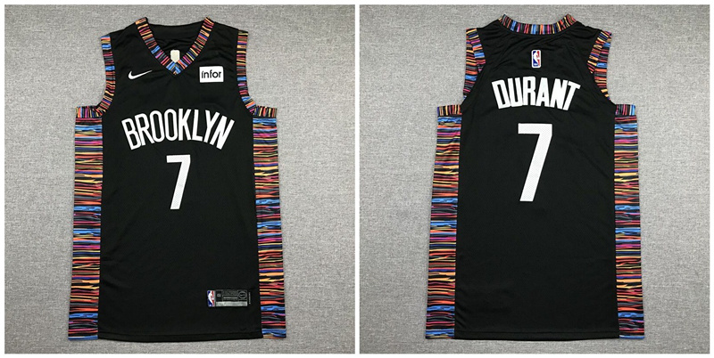 Nets 7 Kevin Durant Black City Edition Nike Authentic Jersey