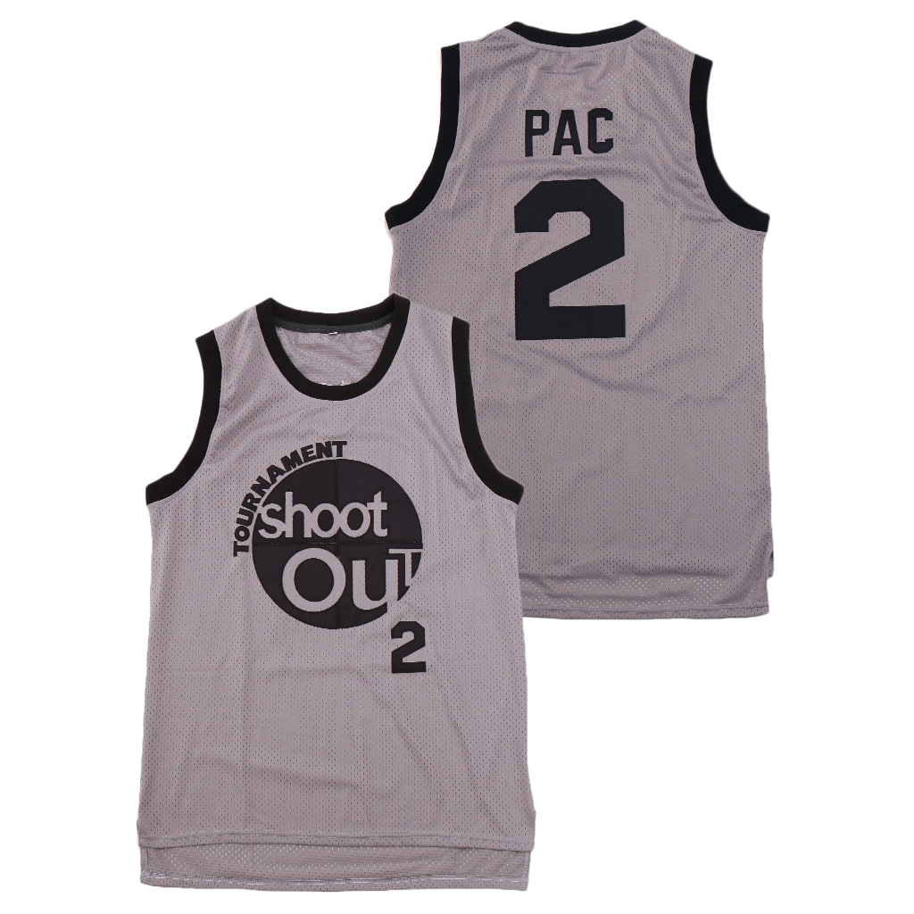 The Rim Tournament Shoot Out 2 Pac Gray Basketball Jersey