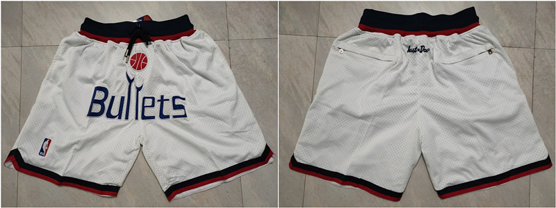 Wizards White Just Don Mesh Shorts