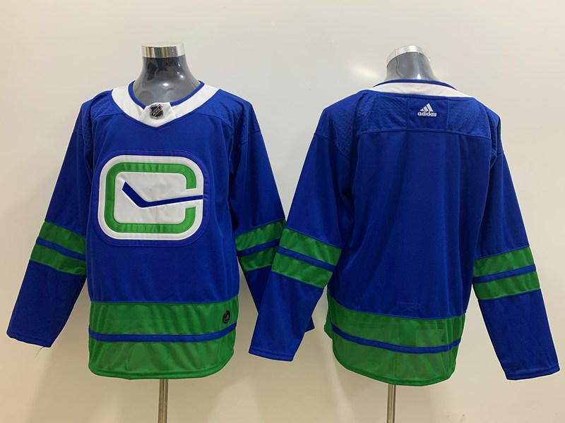 Canucks Blank Blue Adidas Jersey