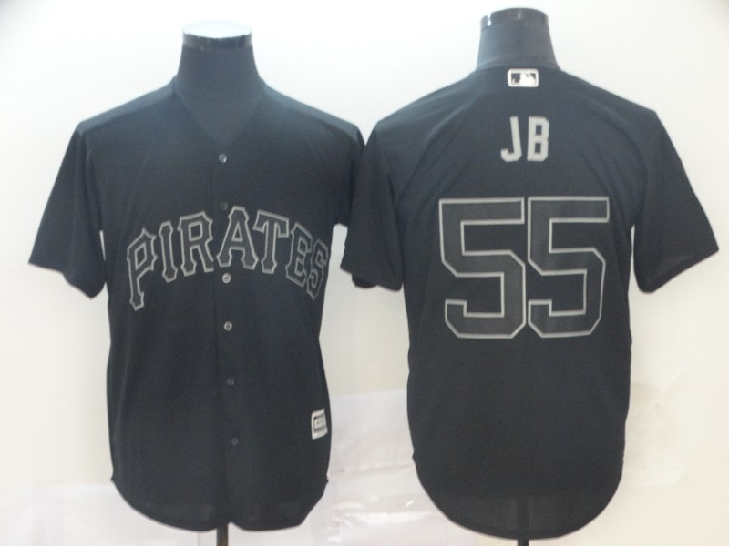 "Pirates 55 Josh Bell ""JB"" Black 2019 Players' Weekend Player Jersey"