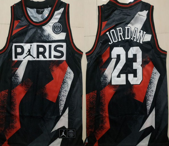 Paris Saint-Germain 23 Michael Jordan Black Classic Fashion Jersey