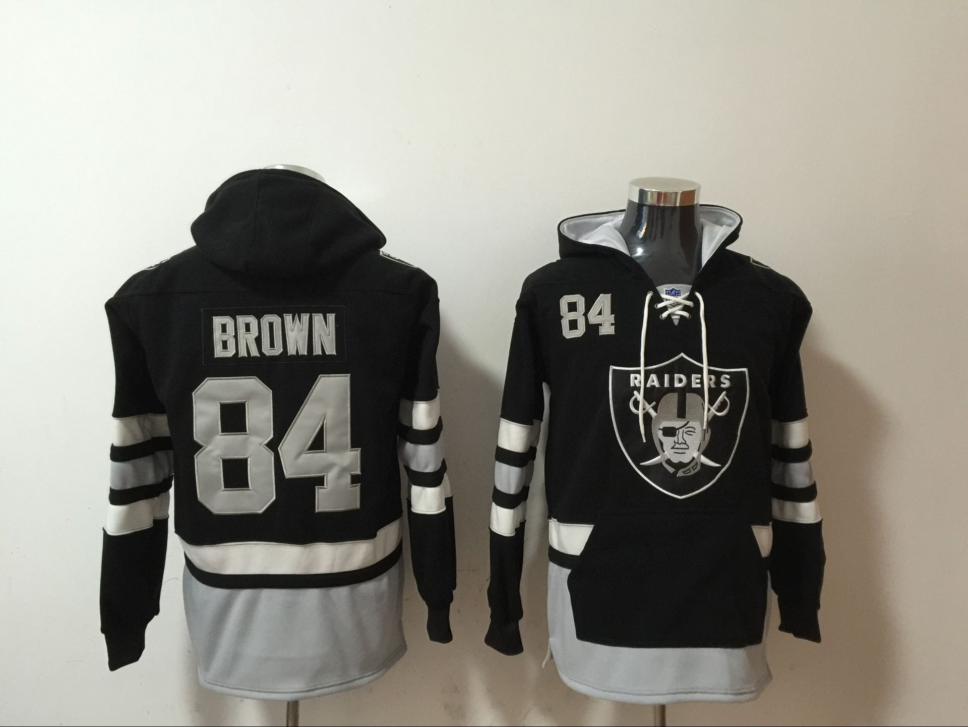 Nike Raiders 84 Antonio Brown Black All Stitched Hooded Sweatshirt