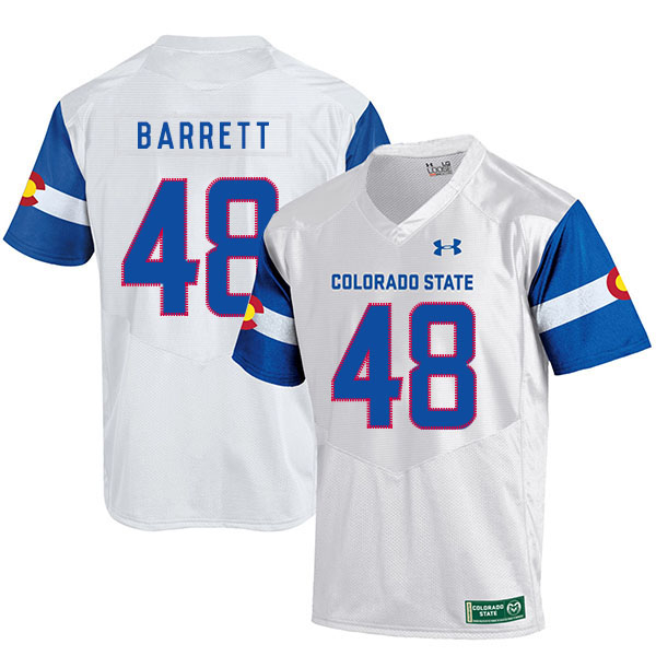 Colorado State Rams 48 Shaquil Barrett White College Football Jersey