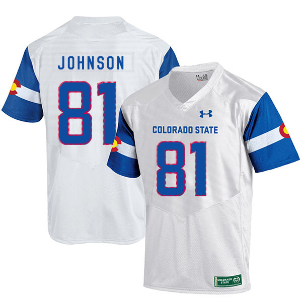 Colorado State Rams 81 Olabisi Johnson White College Football Jersey