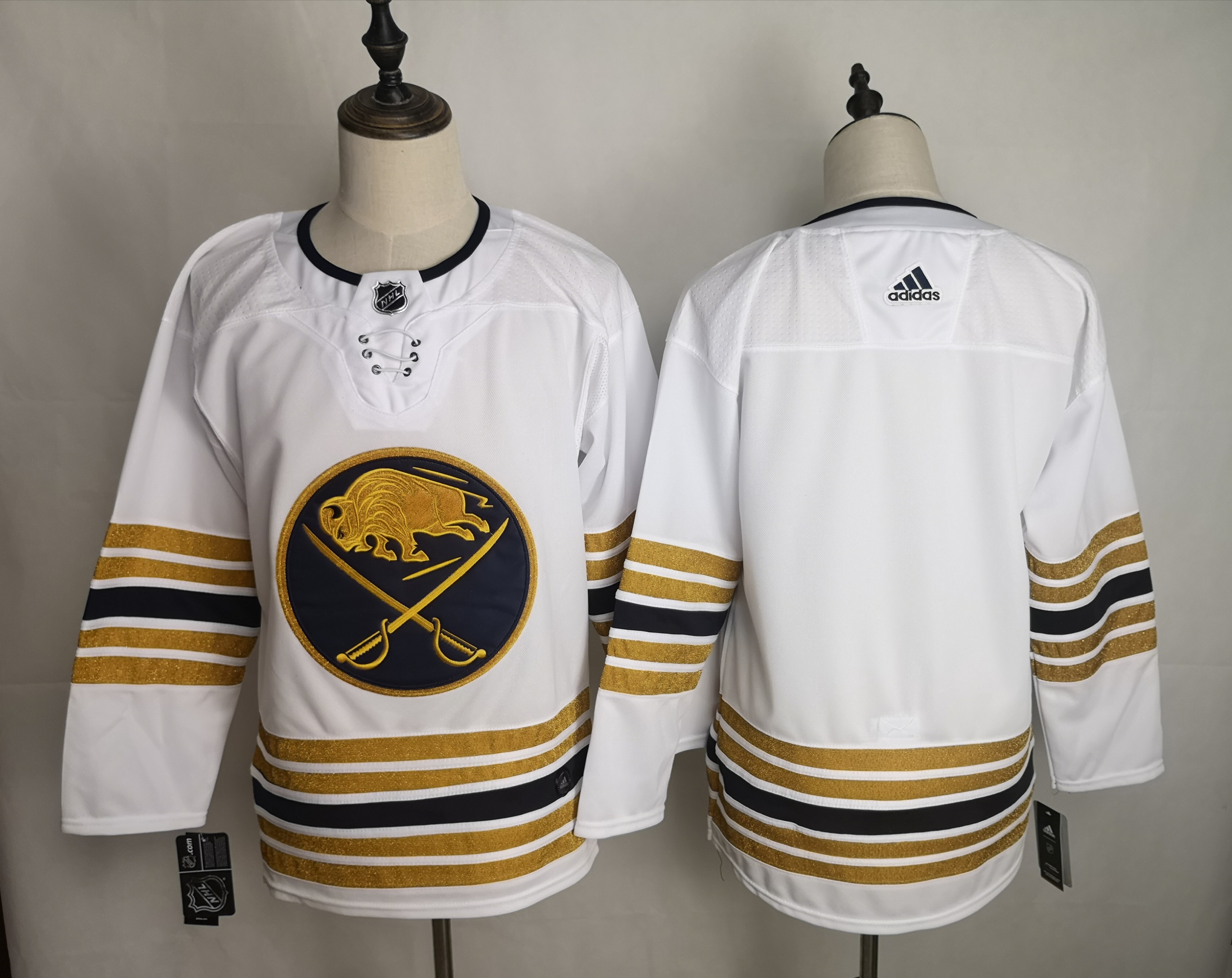 Sabres Blank White 50th anniversary Adidas Jersey