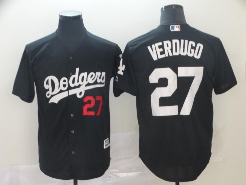 Dodgers 27 Alex Verdugo Black Turn Back The Clock Cool Base Jersey