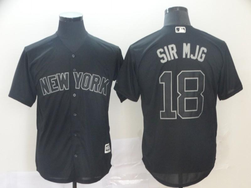 "Yankees 18 Didi Gregorius ""Sir Mjg"" Black 2019 Players' Weekend Player Jersey"