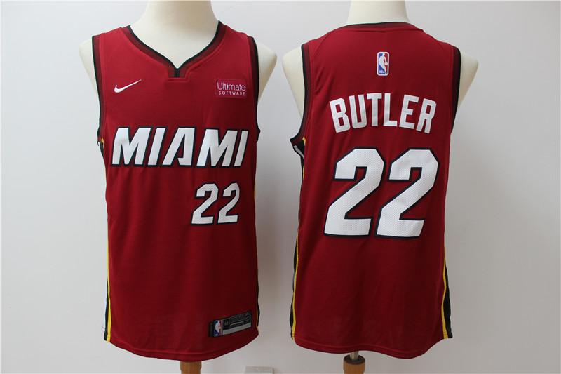 Heat 22 Jimmy Butler Red Nike Swingman Jerseys