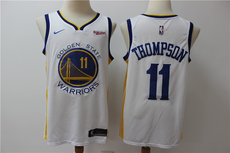 Warriors 11 Klay Thompson White Nike Swingman Jersey