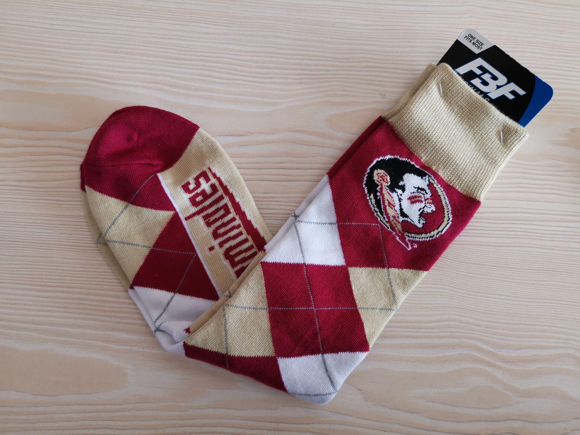 Florida State Seminoles Team Logo Red NCAA Socks