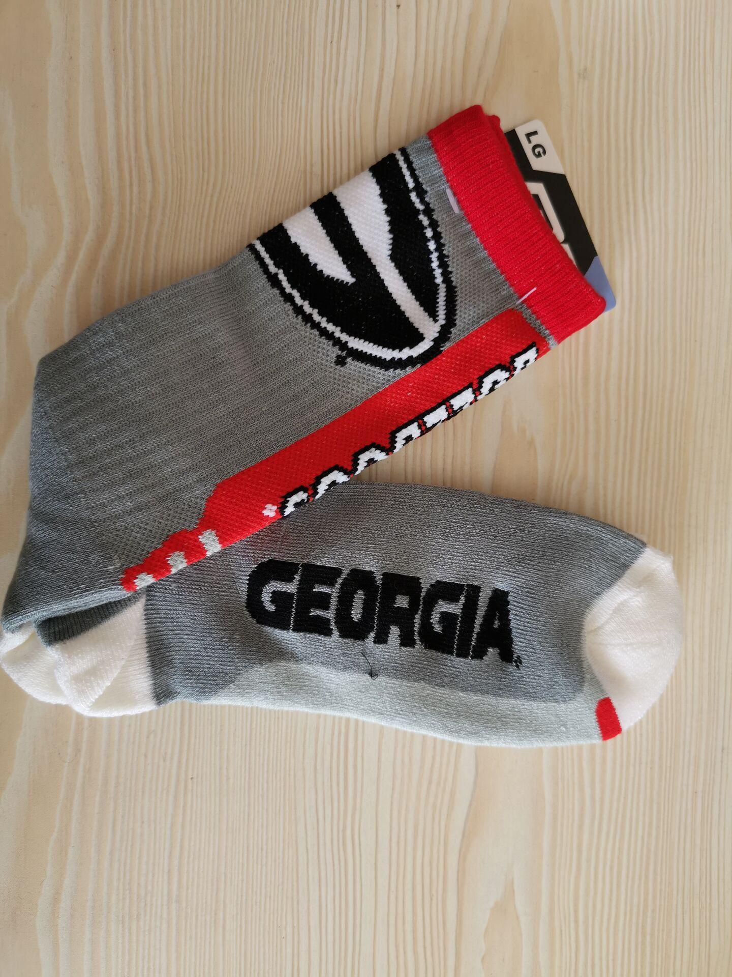 Georgia Bulldogs Team Logo Gray NCAA Socks