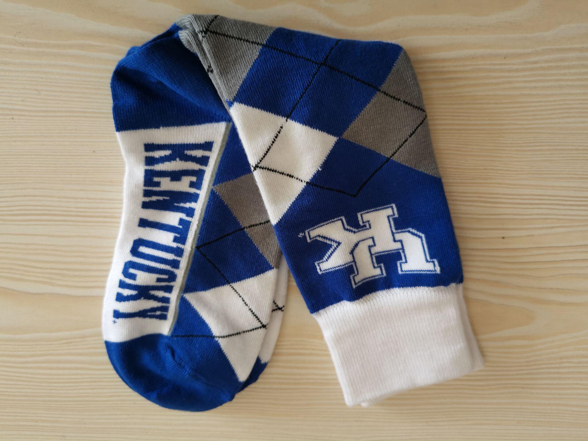 Kentucky Wildcats Team Logo Gray Bule NCAA Socks