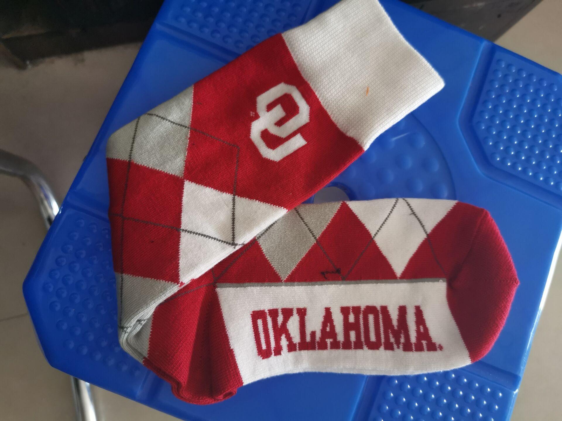 Oklahoma Sooners Team Logo NCAA Socks