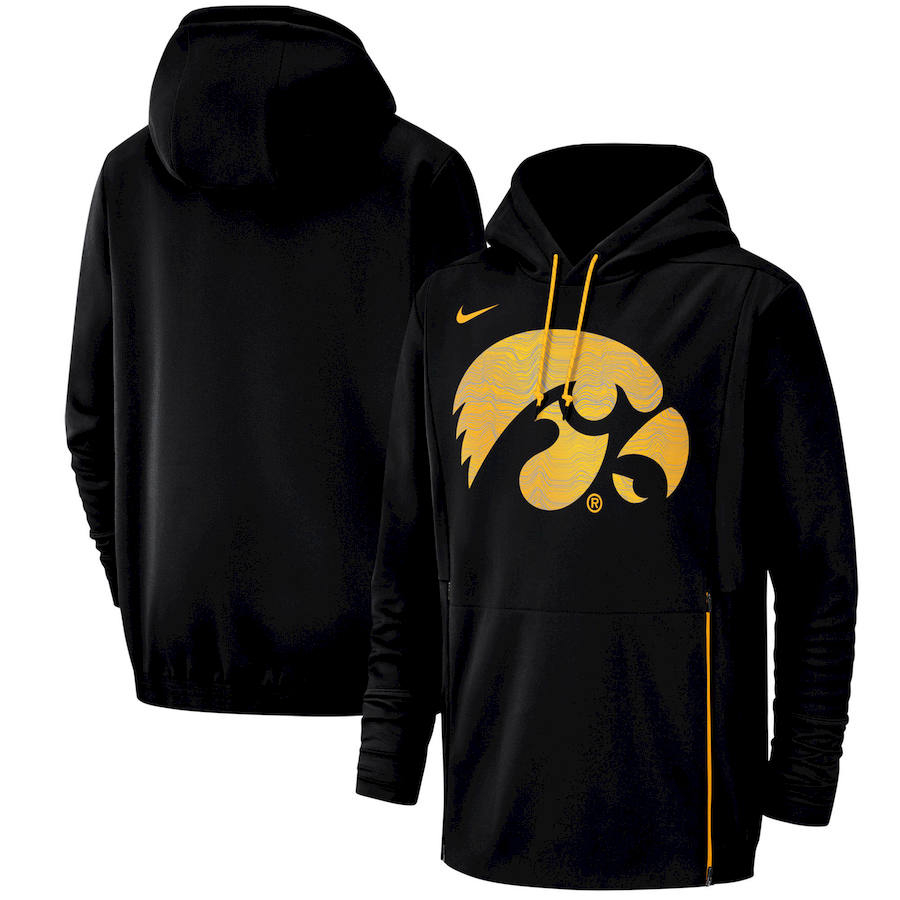 Iowa Hawkeyes Nike Champ Drive Performance Pullover Hoodie Black