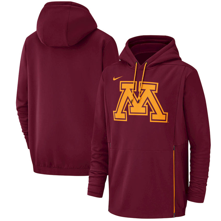 Minnesota Golden Gophers Nike Champ Drive Performance Pullover Hoodie Maroon