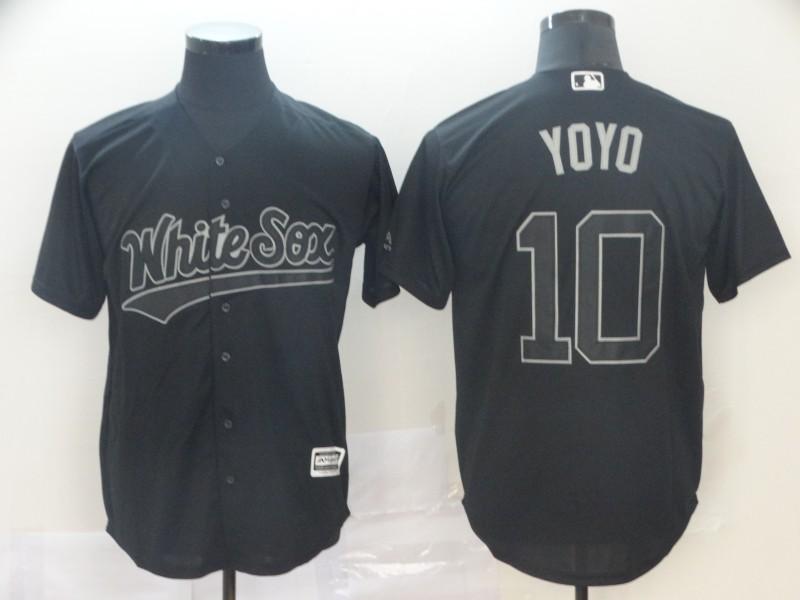 """White Sox 10 Yoan Moncada """"Yoyo"""" Black 2019 Players' Weekend Player Jersey"""