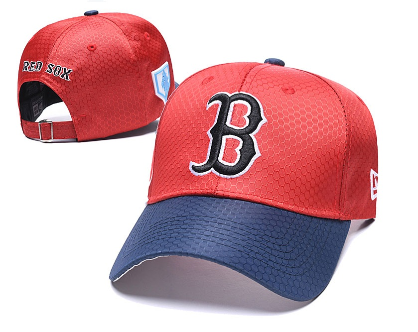 Red Sox Team Logo Red Navy 2019 Spring Training Peaked Adjustable Hat YD