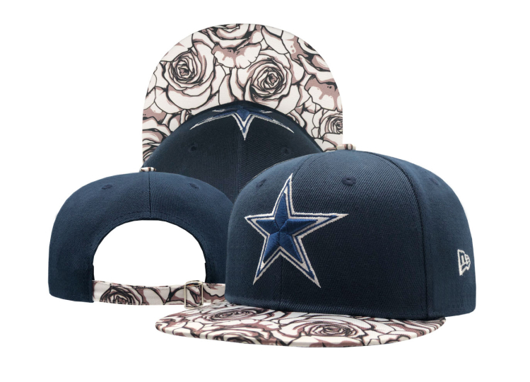 Cowboys Team Logo Navy Adjustable Hat SF