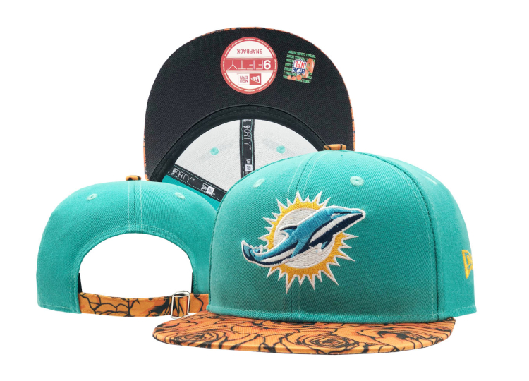 Dolphins Team Logo Aqua Adjustable Hat SF
