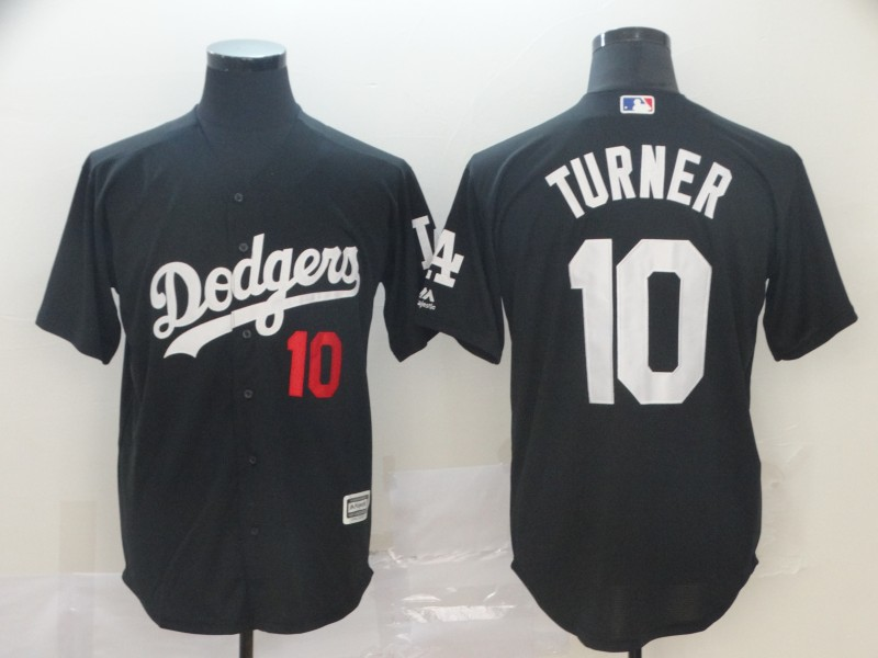 Dodgers 10 Justin Turner Black Turn Back The Clock Cool Base Jersey