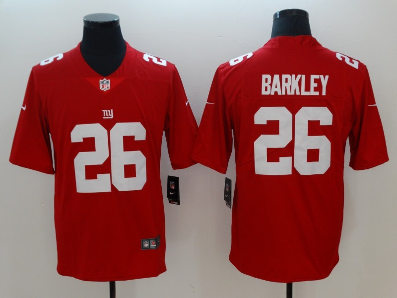 Nike Giants 26 Saquon Barkley Red Inverted Legend Limited Jersey