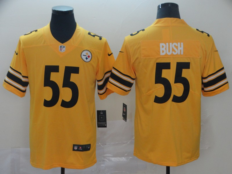 Nike Steelers 55 Devin Bush Gold Inverted Legend Limited Jersey