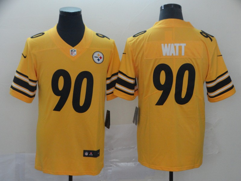 Nike Steelers 90 T.J. Watt Gold Inverted Legend Limited Jersey