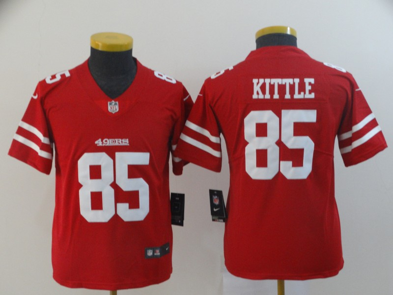 Nike 49ers 85 George Kittle Red Youth Vapor Untouchable Limited Jersey
