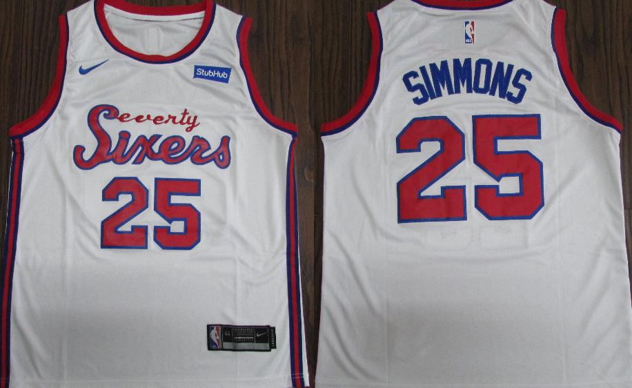 76ers 25 Ben Simmons White 2019-20 Nike Swingman Jersey