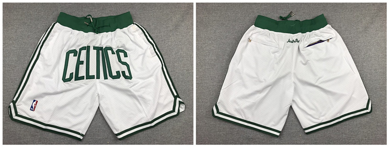 Celtics White Retro Pockets Swingman Shorts