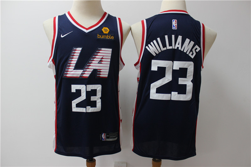 Clippers 23 Lou Williams Navy City Edition Nike Swingman Jersey