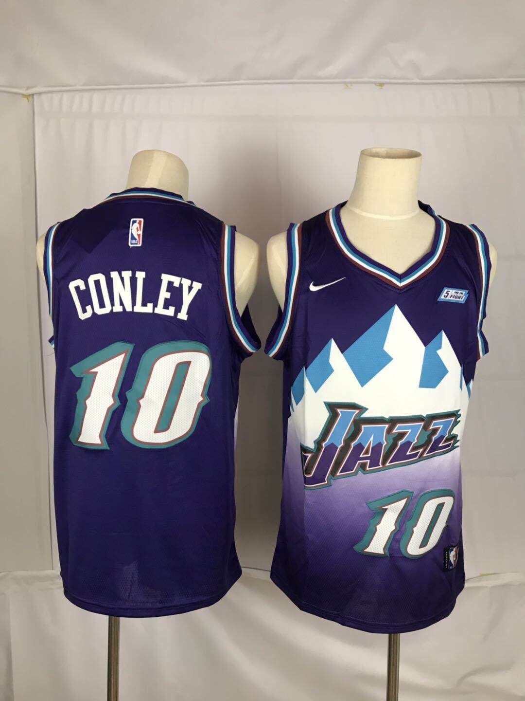 Jazz 10 Mike Conley Purple Nike Swingman Jersey