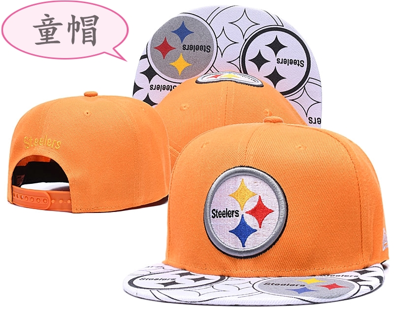 Steelers Team Logo Yellow Youth Adjustable Hat GS