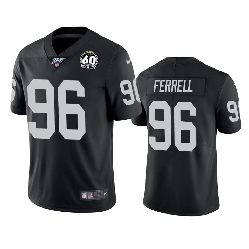 Nike Raiders 96 Clelin Ferrell Black 100th And 60th Anniversary Vapor Untouchable Limited Jersey