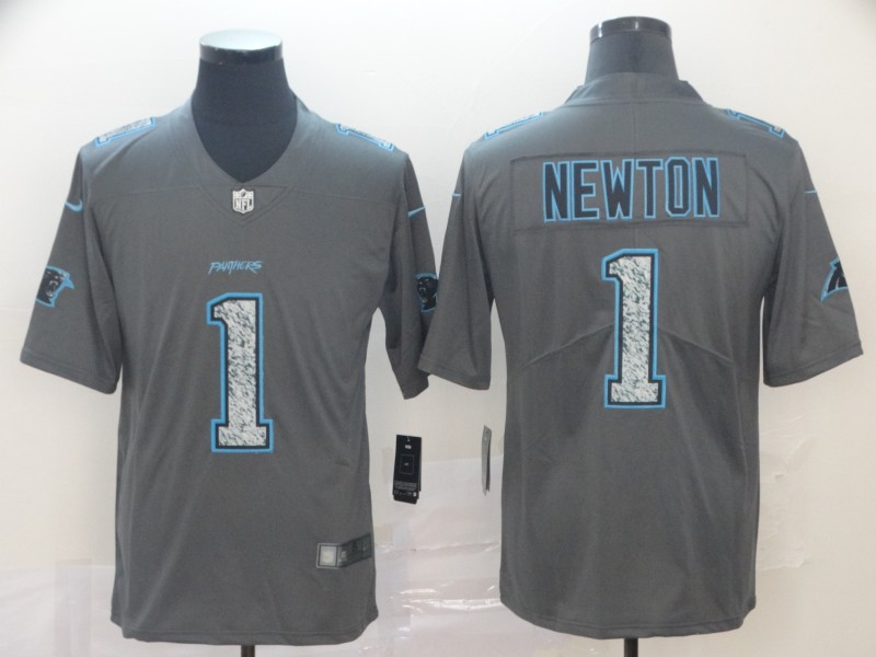 Nike Panthers 1 Cam Newton Gray Camo Vapor Untouchable Limited Jersey