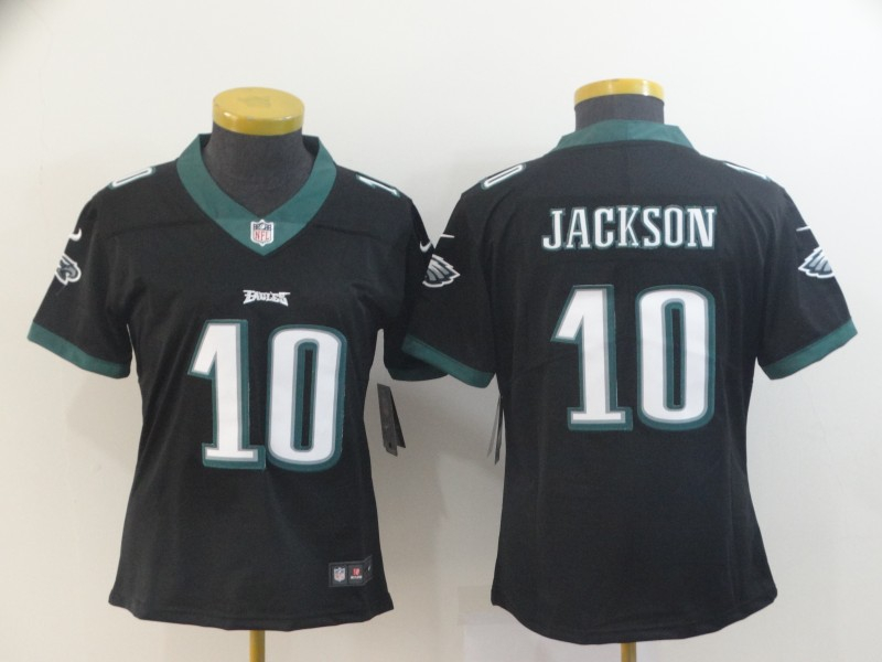 Nike Eagles 10 DeSean Jackson Black Women Vapor Untouchable Limited Jersey
