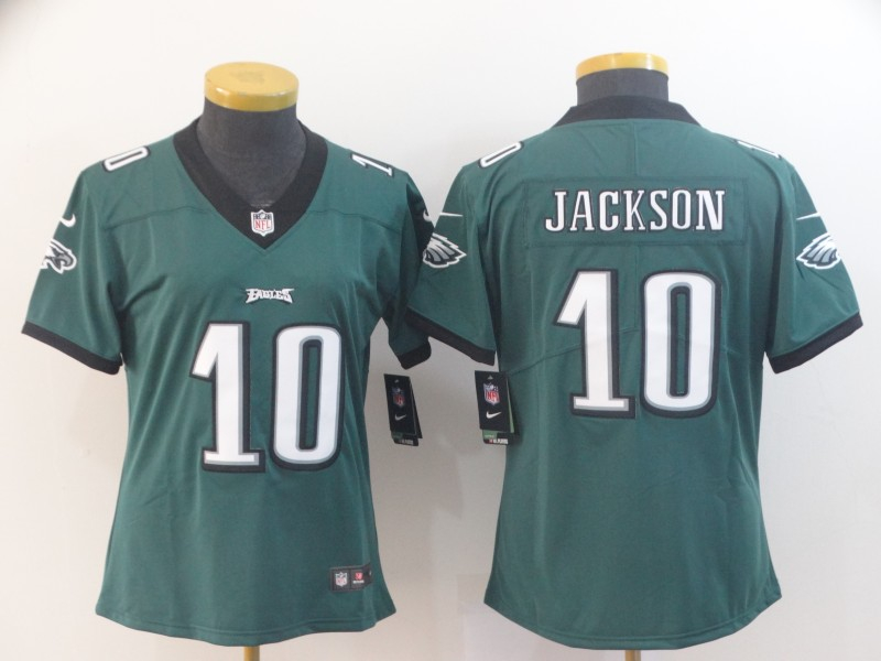 Nike Eagles 10 DeSean Jackson Green Women Vapor Untouchable Limited Jersey
