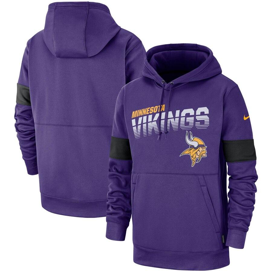 Minnesota Vikings Nike Sideline Team Logo Performance Pullover Hoodie Purple